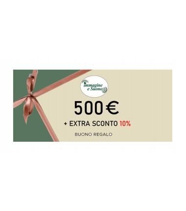 500 Euro + Extra Sconto 10%