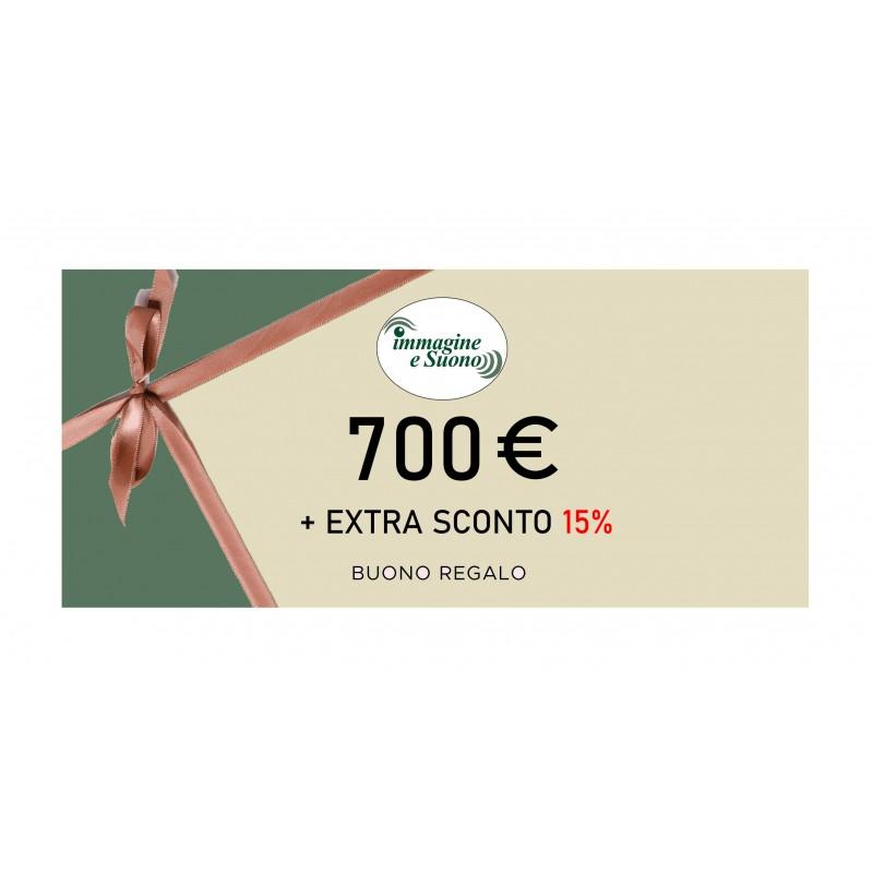 700 Euro + Extra Sconto 15%