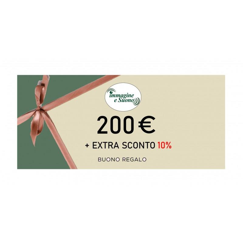 200 euro + Extra Sconto 10%