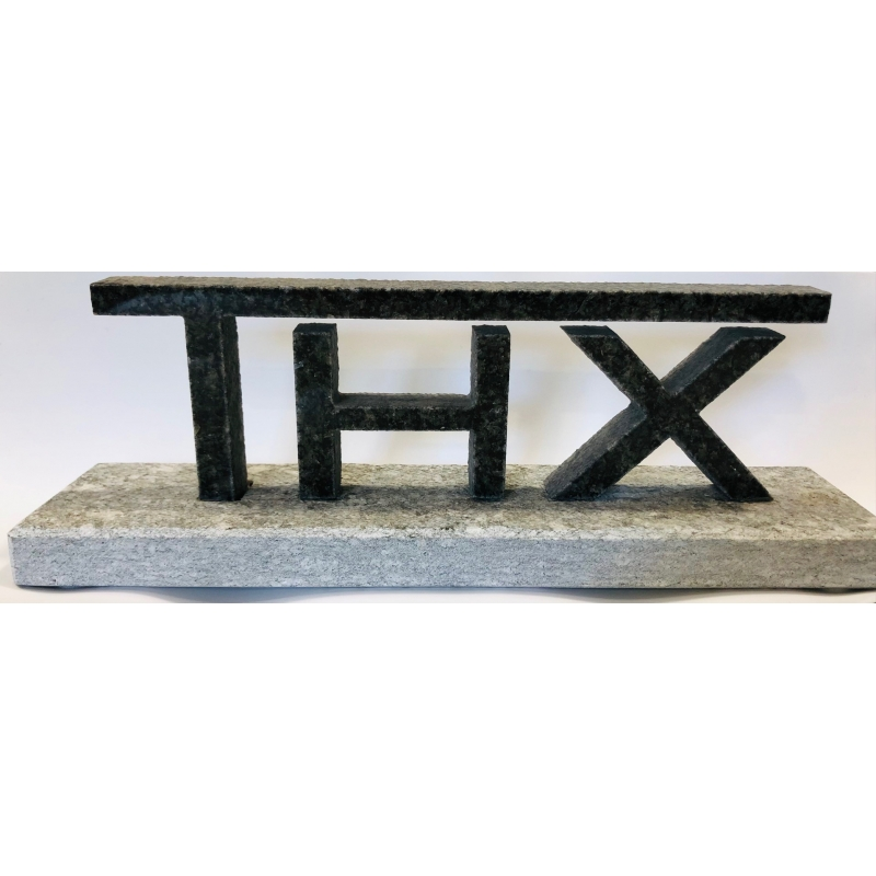 Logo THX in pietra